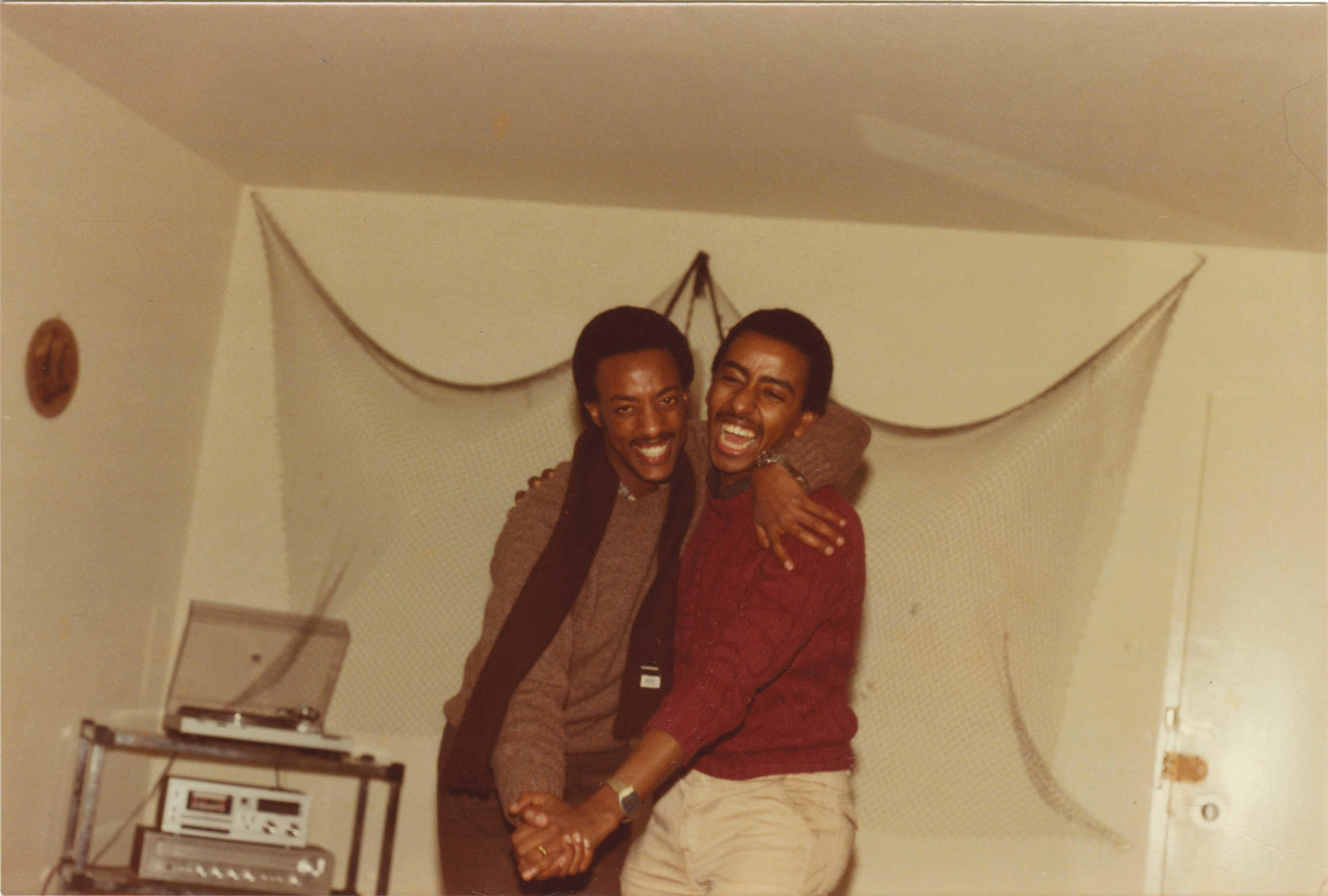 """""""Teddy"""" Tewodros and Hencock became friends at Saint Josephs school in Addis, but strengthened their friendship through making music largely for the Ethiopian diaspora in Washington DC in the 80s."""