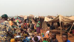 Camp de réfugiés à Bangui, le 15 janvier 2014.