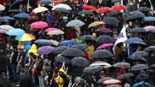 Biểu tình tại Hy Lạp ngày 07/02/2012 để phản đối các biện pháp thắt lưng buộc bụng mới của chính quyền.