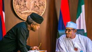 Nigerian President Muhammadu Buhari and Vice President Yemi Osinbajo