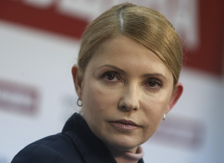 Юлия Тимошенко, кандидат в президенты, на пресс-конференции в Киеве 01/04/2014