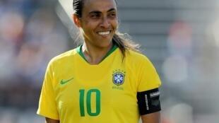 La joueuse brésilenne Marta.