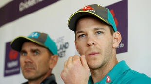 Tim Paine (right) was appointed Australia cricket captain after Steve Smith was suspended following a cheating plot in South Africa.