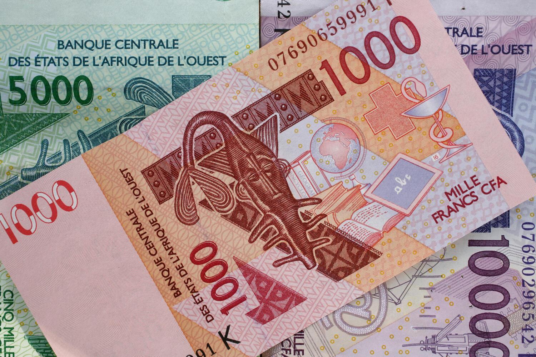 Billets de francs CFA actuellement en circulation.