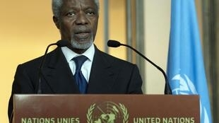 Joint special envoy on Syria for the United Nations and the Arab League Kofi Annan