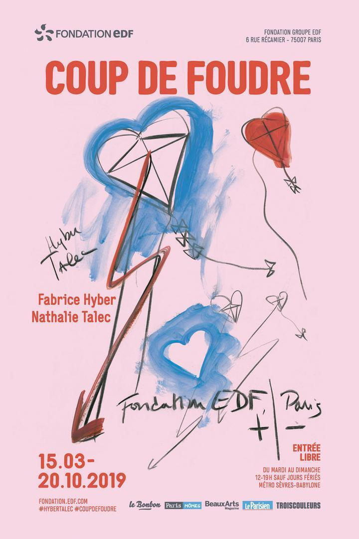 """Cartaz da mostra """"Coup de Foudre""""."""