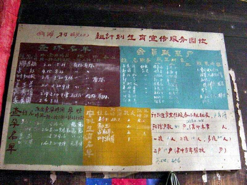 谁上环了,谁结扎了,谁未婚先孕了,谁被强制堕胎了,谁被罚款了,在中国农村乃至某些地方的县城都是要张榜公布的。