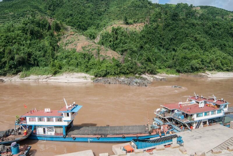 湄公河的上游,在中國稱之為瀾滄江,圖為雲南西雙版納與緬甸邊界的瀾滄江碼頭。