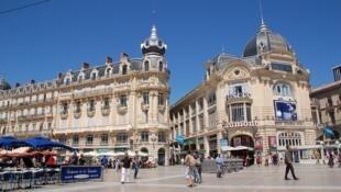 Площадь Театра комедии в Монпелье