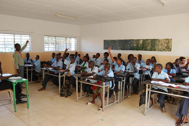 A school in Senegal