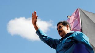 El presidente de Venezuela, Nicolás Maduro, en un evento para conmemorar los 60 años del fin de la dictadura de Marcos Pérez Jiménez, en Caracas, el 23 de enero de 2018.