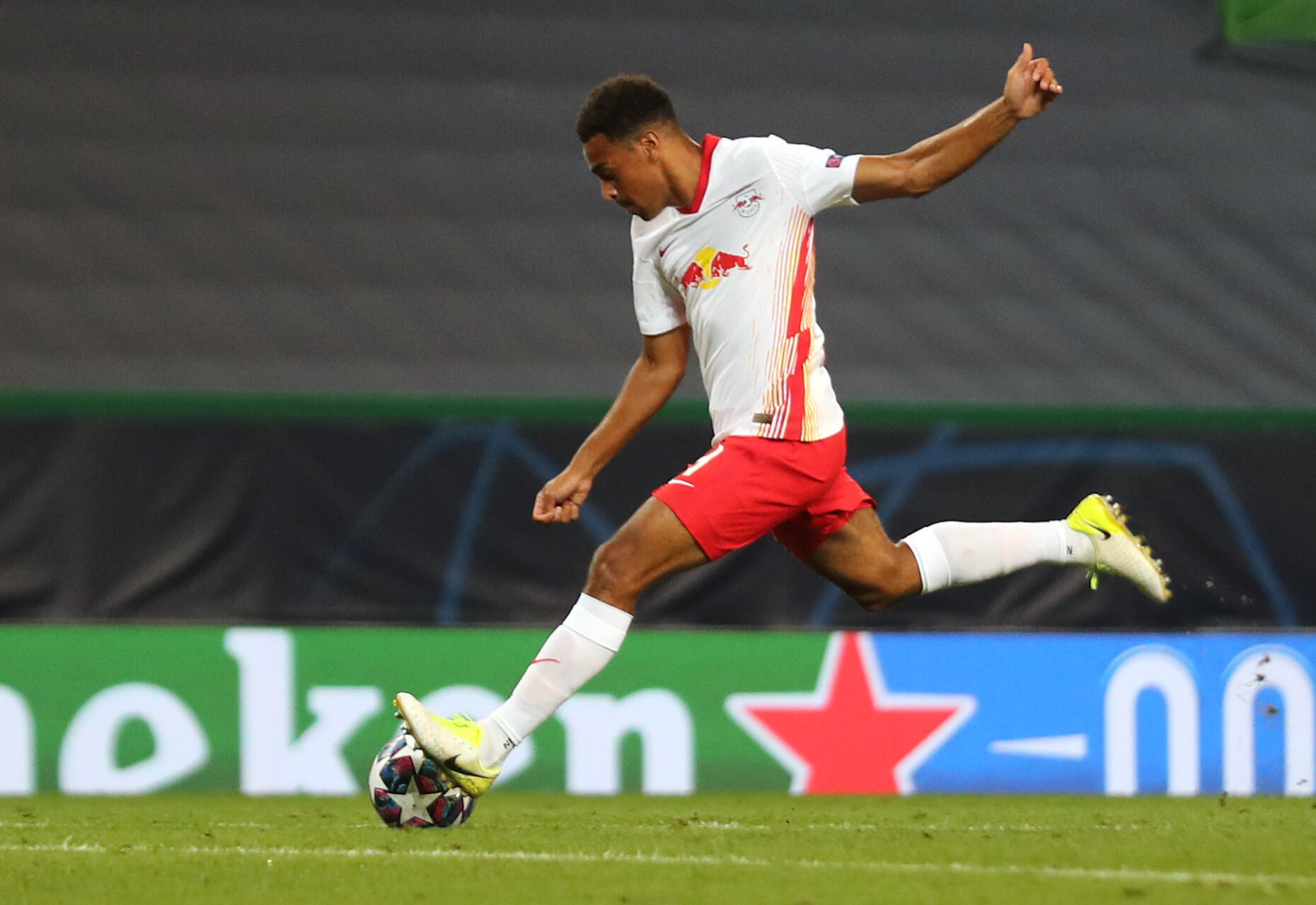 Tyler Adams scored RB Leipzig's winner in their 2-1 victory over Atletico Madrid in the Champions League quarter-finals.