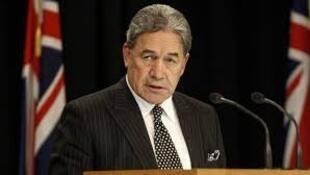 新西兰副总理兼外长温斯顿·彼得斯资料图片