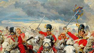 Scotland for ever -  Lady Butler 1881یگان اسکاتلند در جنگ واترلو