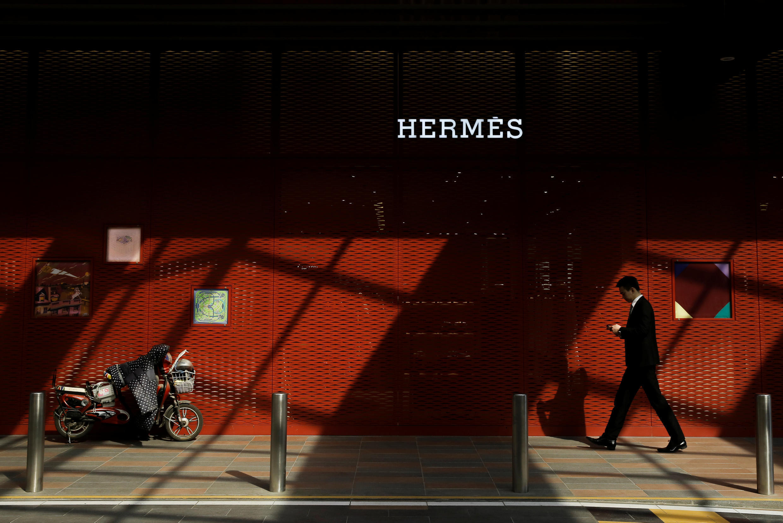 La boutique Hermès à Pékin, le 4 mars 2019.