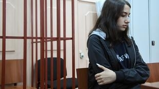 Maria Khatchatourian, l'une des trois sœurs accusées du meurtre de son père, le 26 juin 2019.