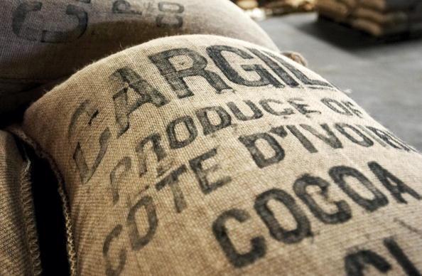 Un sac de cacao en provenance de Côte d'Ivoire.