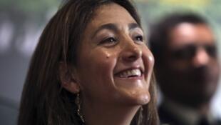 Ingrid Betancourt à Bogotá en 2010 (illustration).
