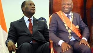 Alassane Ouattara, Laurent Gbagbo. (montage RFI)