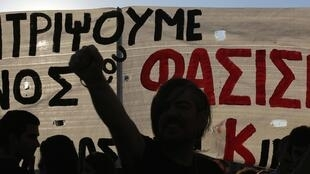 Anti-fascist protest in Athens, 25 September, 2013
