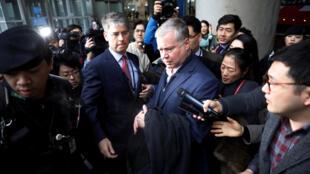 Le négociateur américain pour la Corée du Nord Stephen Biegun à son arrivée en Corée du Sud, le 3 février 2019.