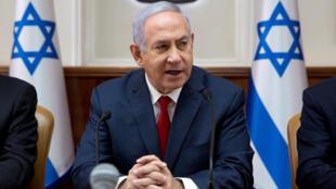 O Primeiro-ministro de Israel Benyamin Netanyahu.