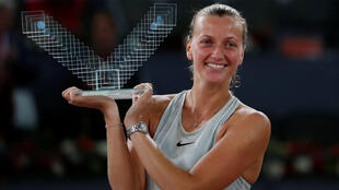 Petra Kvitova took nearly three hours to win her third title in Madrid.