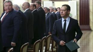 Премьер-министр России Дмитрий Медведев, Москва, 9 июля 2015.