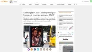 Jornal francês La Croix fala da tentativa de boicote à Coca-Cola na Hungria por campanha pró-LGBT
