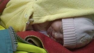 One of the two infants discovered in the van, 21 March 2011REUTERS/Ukrainian Border Service
