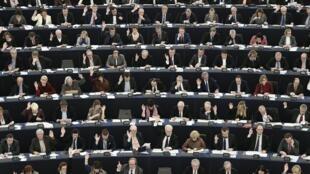 Une session au Parlement européen de Strasbourg, le 8 mars 2016.