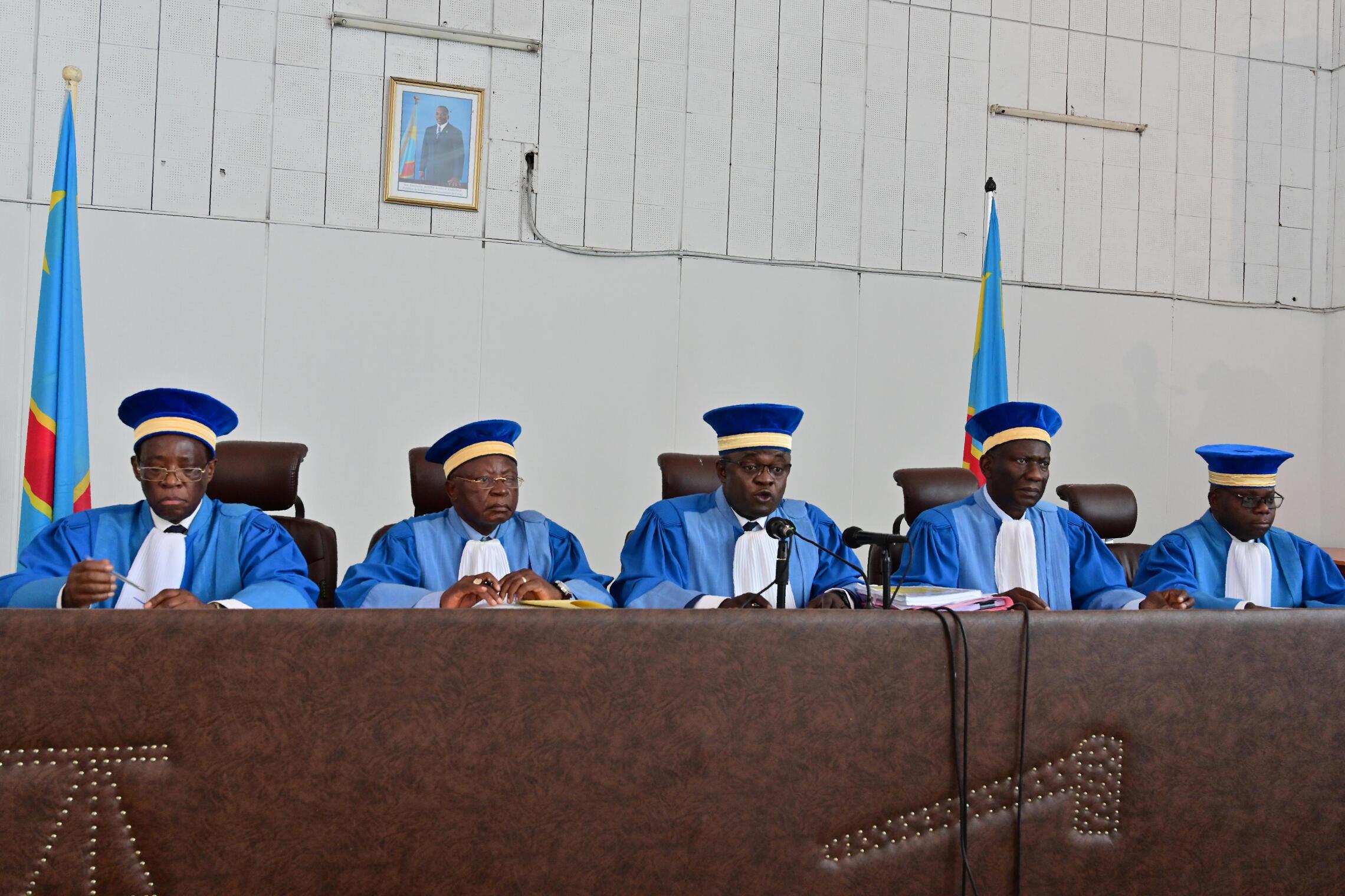Des juges de la Cour constitutionnelle congolaise lors de l'audition des avocats de Martin Fayulu, mardi 15 janvier 2019 (image d'illustration)