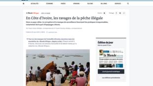 Pêche illégale Côte d'Ivoire