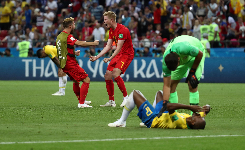 Les Brésiliens terrassés par les Diables rouges belges.
