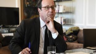 François Hollande à Paris, le 7 mai 2019.