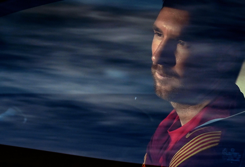 Lionel Messi, au centre d'entraînement du FC Barcelone, en septembre 2020.