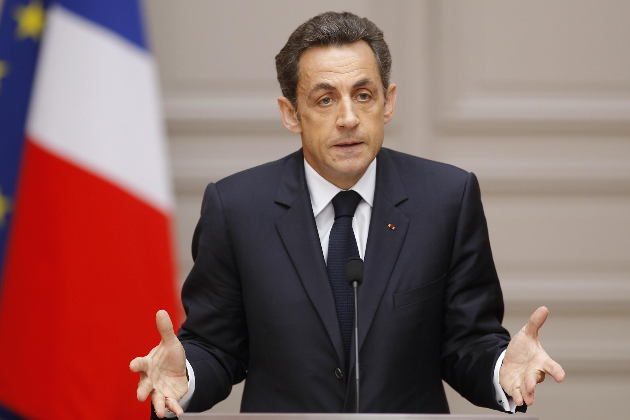 Allocution du président français Nicolas Sarkozy le 24 mars 2010.