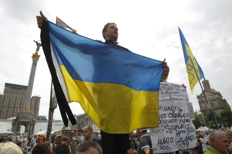 Sur le Maïdan, à Kiev, le 1er juin 2014.