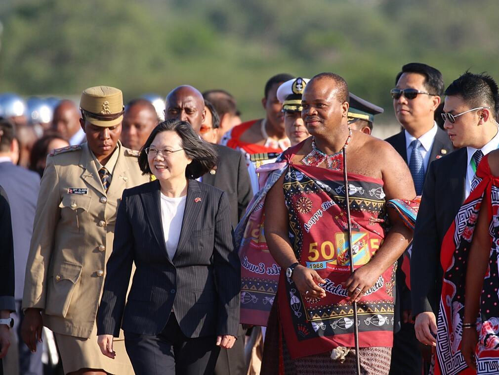 台灣總統蔡英文與斯威士蘭國王姆斯瓦蒂三世 2017年4月17日