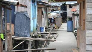 Dans une ruelle de la Comuna 1 de Buenaventura, en Colombie.