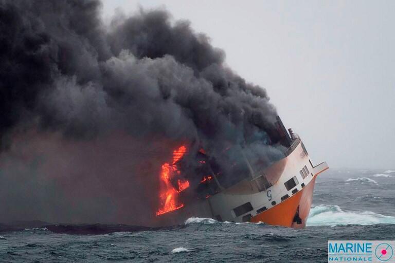 Le «Grande America» a coulé mardi 12 mars au large de La Rochelle, dans le golfe de Gascogne (côte atlantique française).