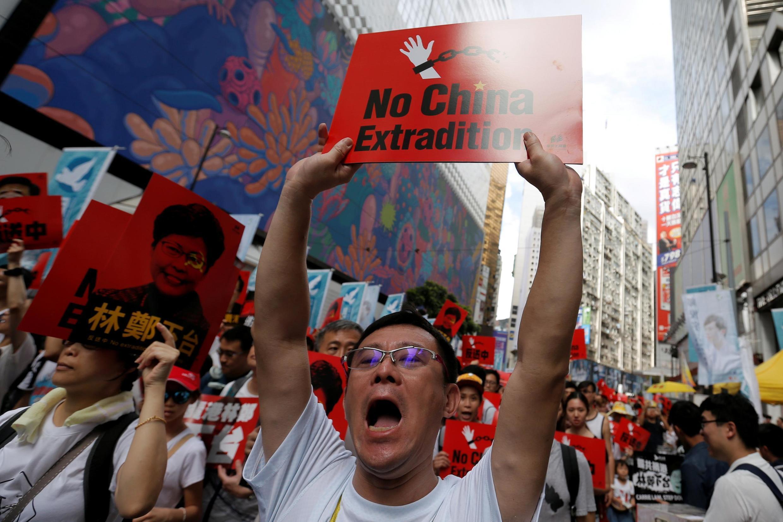 Người dân Hồng Kông biểu tình phản đối dự luật cho phép dẫn độ sang Trung Quốc, ngày 09/06/2019.