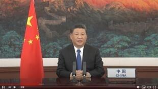 中國國家主席習近平2020年5月18日 世衛組織視頻大會講話照片