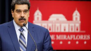 Le président Nicolas Maduro lors d'une conférence de presse au palais de Miraflores, à Caracas, le 12 décembre 2018.