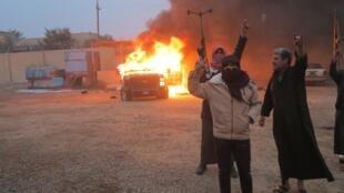 Protestos em Ramadi, na província de Al Anbar (oeste do Iraque).