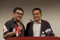 Eric Khoo (trái) và danh họa người Nhật, Y. Tatsumi