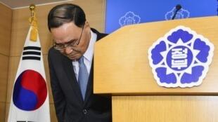 韓國總理因沉船事故救援不力引咎辭職
