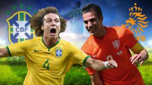 Brasil e Holanda disputam terceiro lugar no Mundial de futebol 2014.