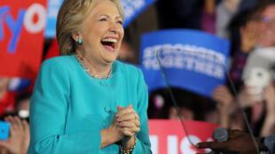 Ứng viên Hillary Clinton trong buổi mít tinh ở Cleveland, bang Ohio, ngày 06/11/216.
