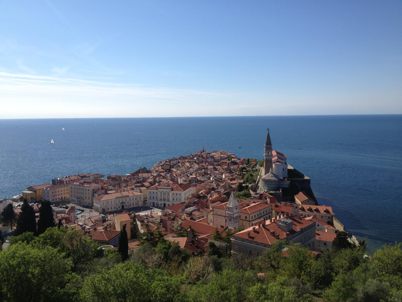Piran, commune de la Slovénie, située en Istrie, en bordure de la mer Adriatique.